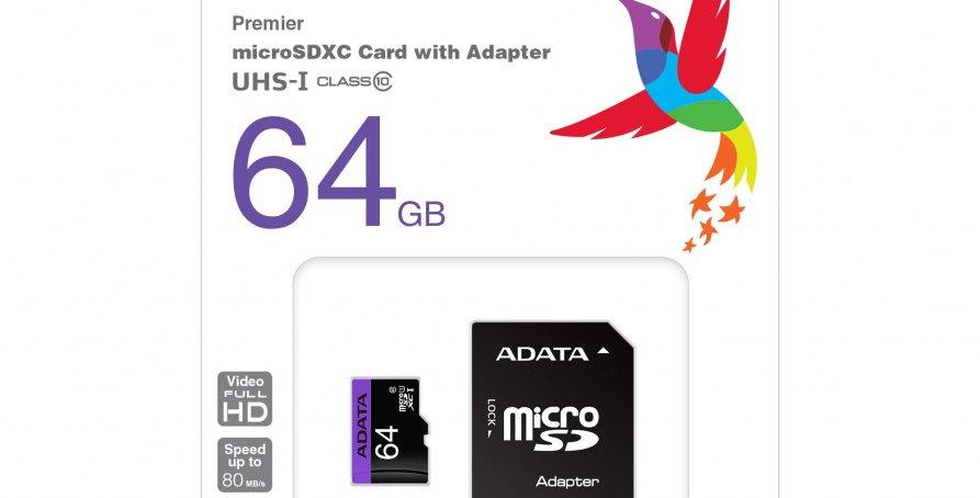 Micro SD Clase 10 de 64gb Adata