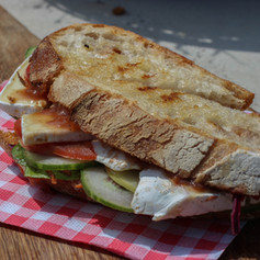 Brie Rabarber Sandwich