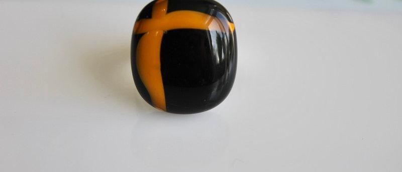 Ring zwart oranje