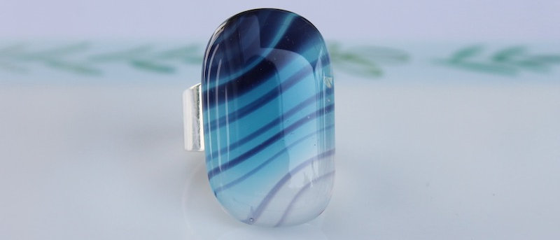 Ring blauw paars