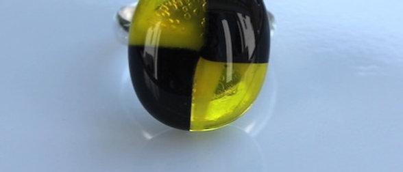 Ring spiraal zwart geel