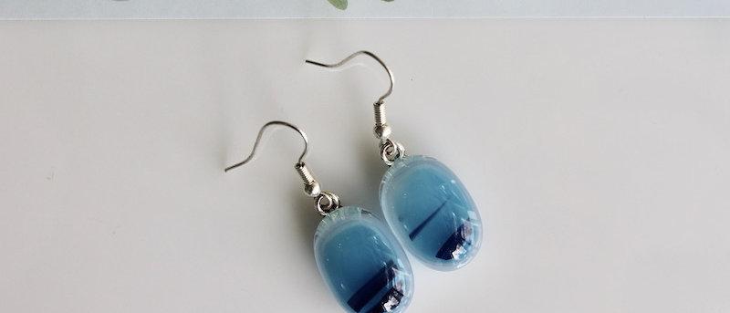 Oorbellen (donker) blauw