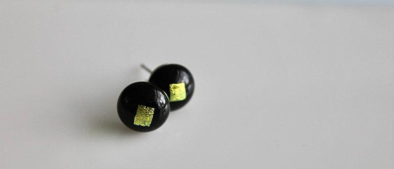 Oorstekertjes zwart geel