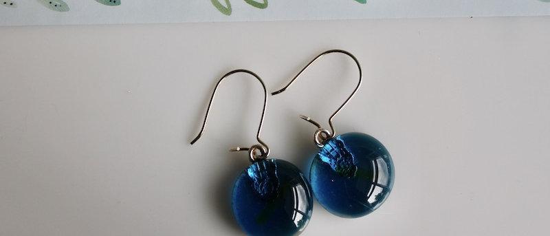Oorbellen blauw