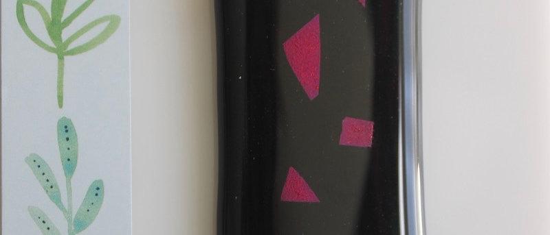 Halsketting zwart paars