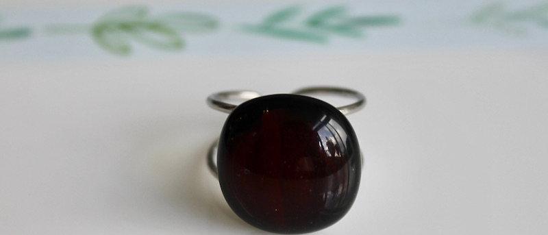 Ring zwart wijnrood