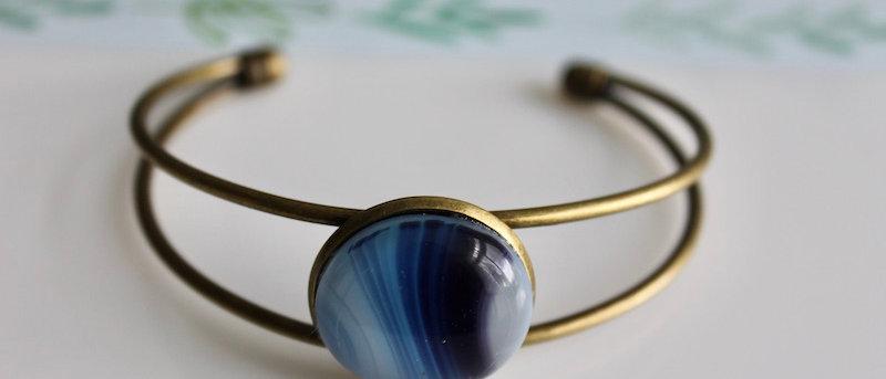 Slipover armband blauw paars