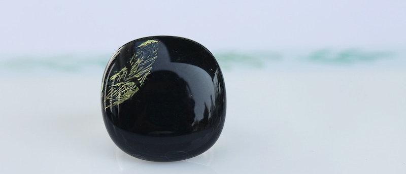 Ring zwart goud