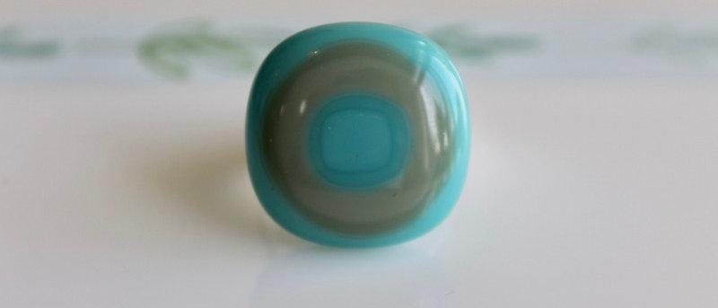 Ring blauw kaki