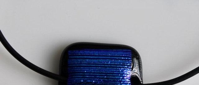 Halsketting zwart blauw