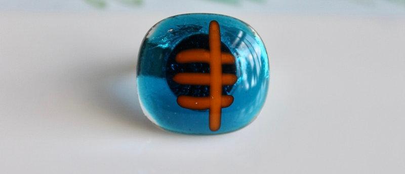 Ring blauw oranje
