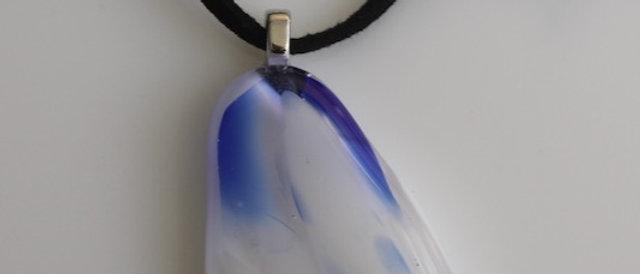 Halsketting wit blauw