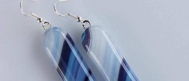 Oorbellen blauw paars