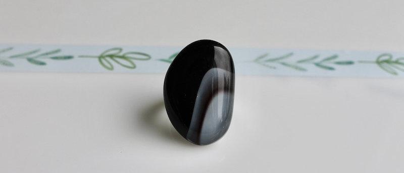 Ring zwart grijs paars
