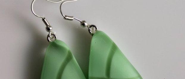 Oorbellen groen op groen