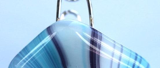 Ring gestreept blauw paars