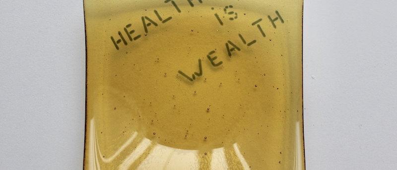 """Schaaltje """"Health is wealth"""""""