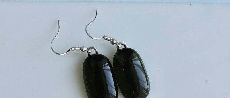 Oorbellen olijfgroen