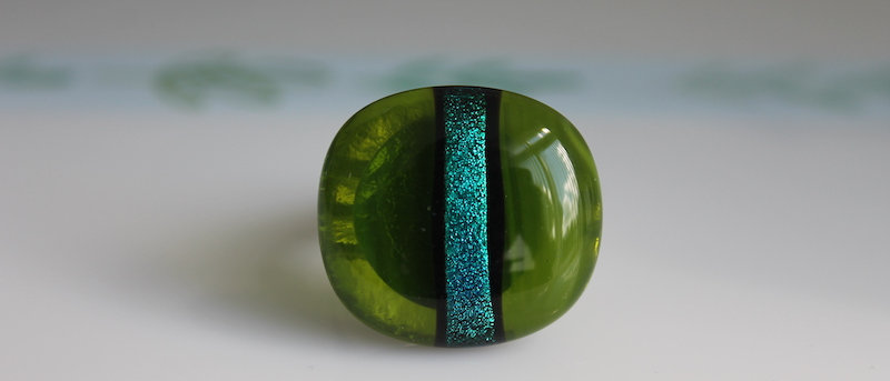 Ring groen en flashy