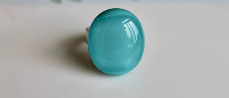 Ring appelblauw-zeegroen