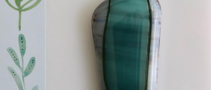 Halsketting groen paars