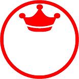 印鑑ハンコはんこイラスト入り王冠キングKing&Princeキンプリファンオタク推しメン銀行印彫刻篆書体書体