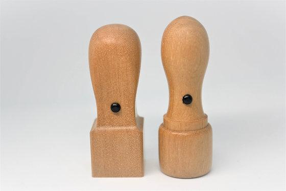 あんちゃ木(オノオレカンバ)法人印セット(ケース付き)