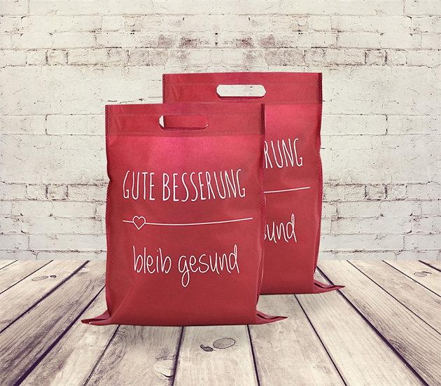 Non-Woven Einkaufstasche GUTE BESSERUNG - bleib gesund