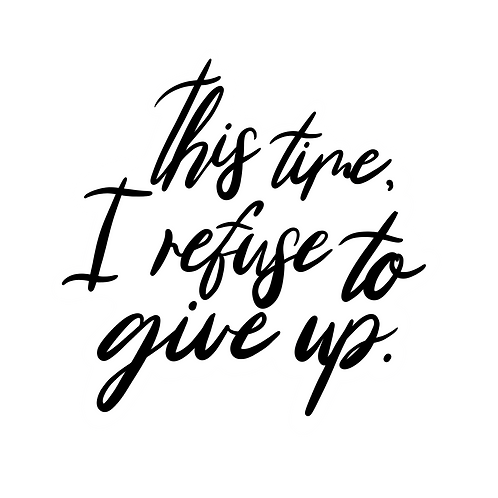 Refuse to Give Up Sticker