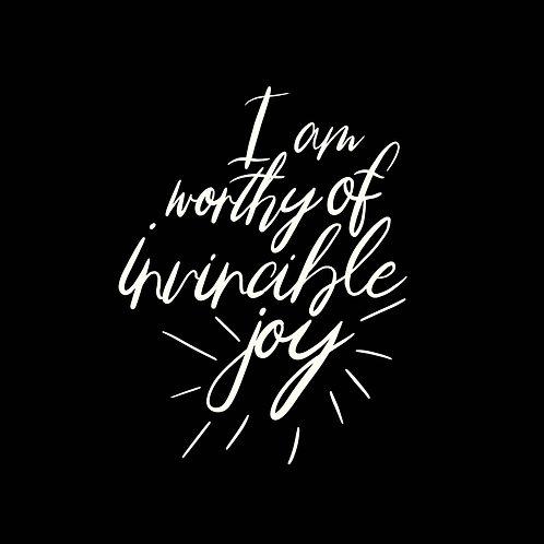 Worthy of Joy Mirror Decal