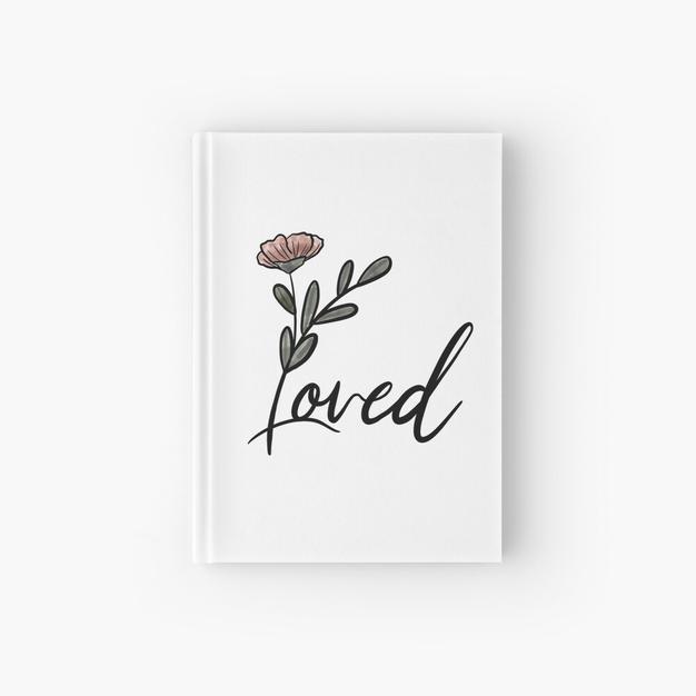 Loved Watercolor Flower Hardcover Journal