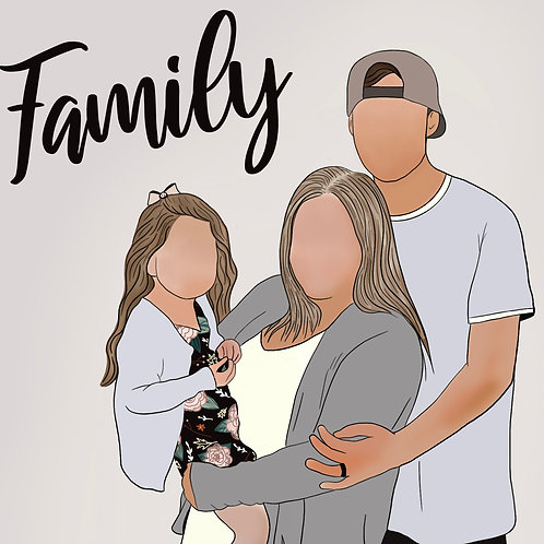 Color Detail Family Portrait
