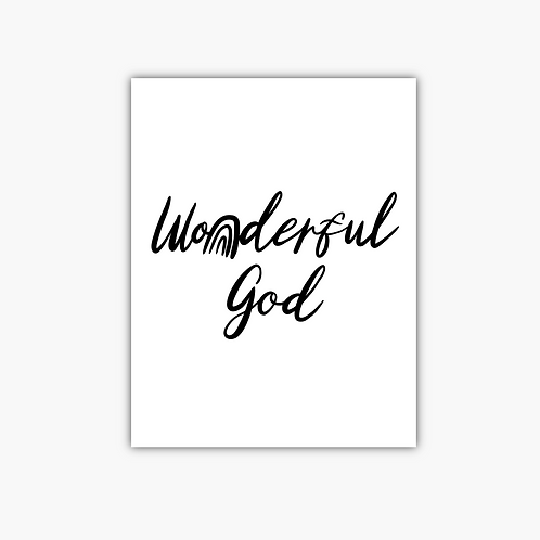 Wonderful God Print