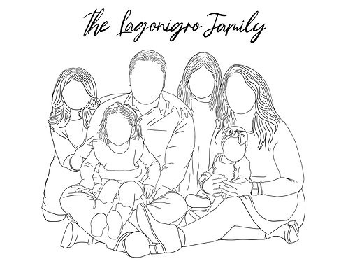 Minimalistic Family Portrait