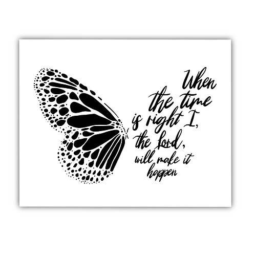 His Timing // Faithful Butterfly Print