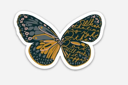 His Timing Butterfly Original Vinyl Sticker