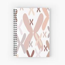 Trisomy-21 Chromosomes Print Spiral Notebook