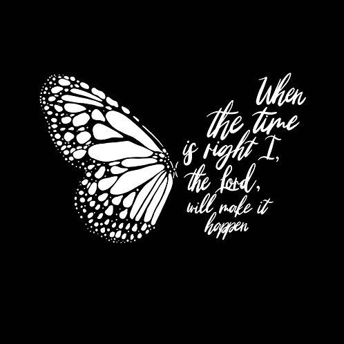 Faithful Butterfly Mirror Decal