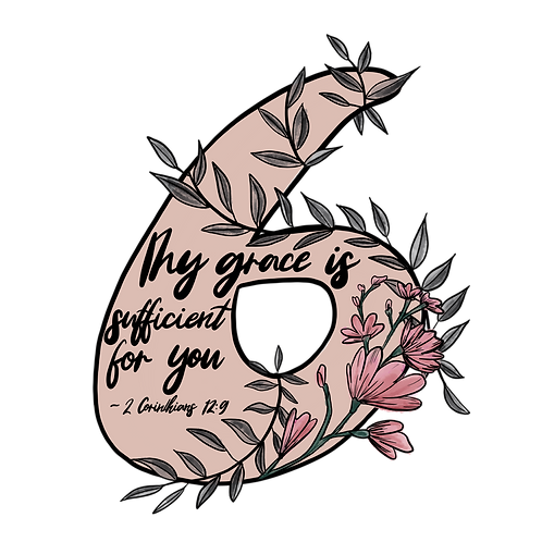 Enneagram 6 // A verse for your fears Sticker