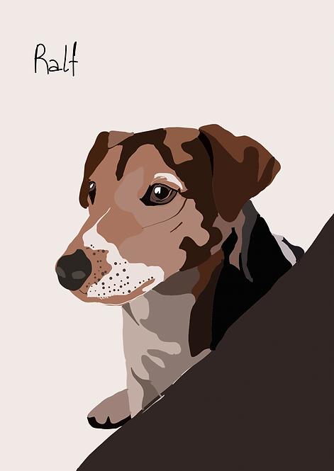 Personalised Digital Pet Portrait