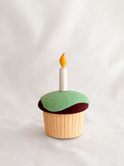 Cupcake, Candle, Birthday