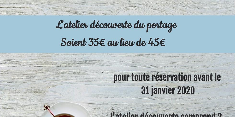 Promo de lancement: atelier découverte à 35€
