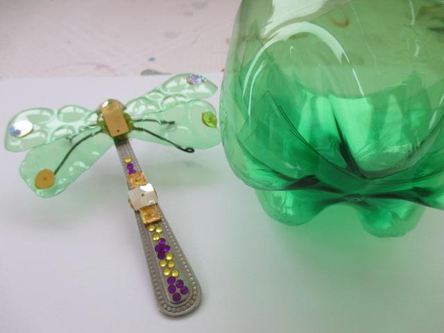 a green dragonfly brooch