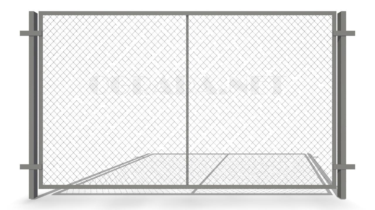 Забор из сетки рабицы ЗР-1850 серый