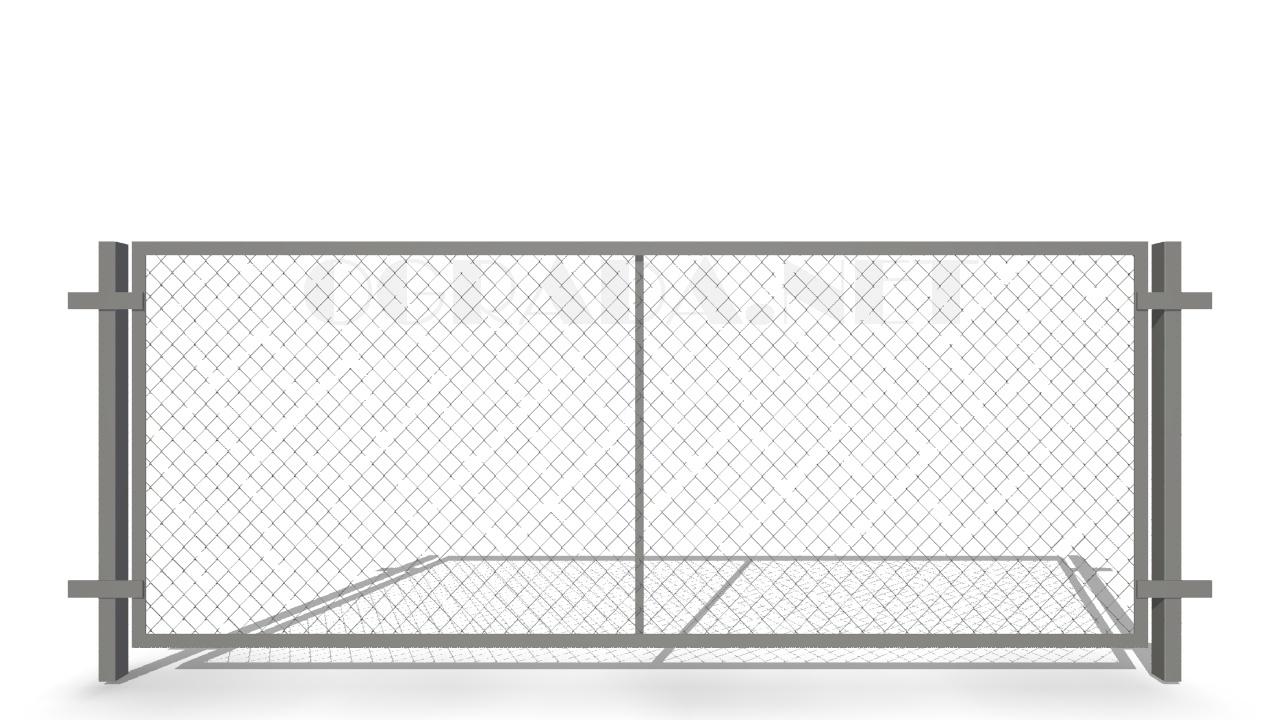 Забор из сетки рабицы ЗР-1250 серый