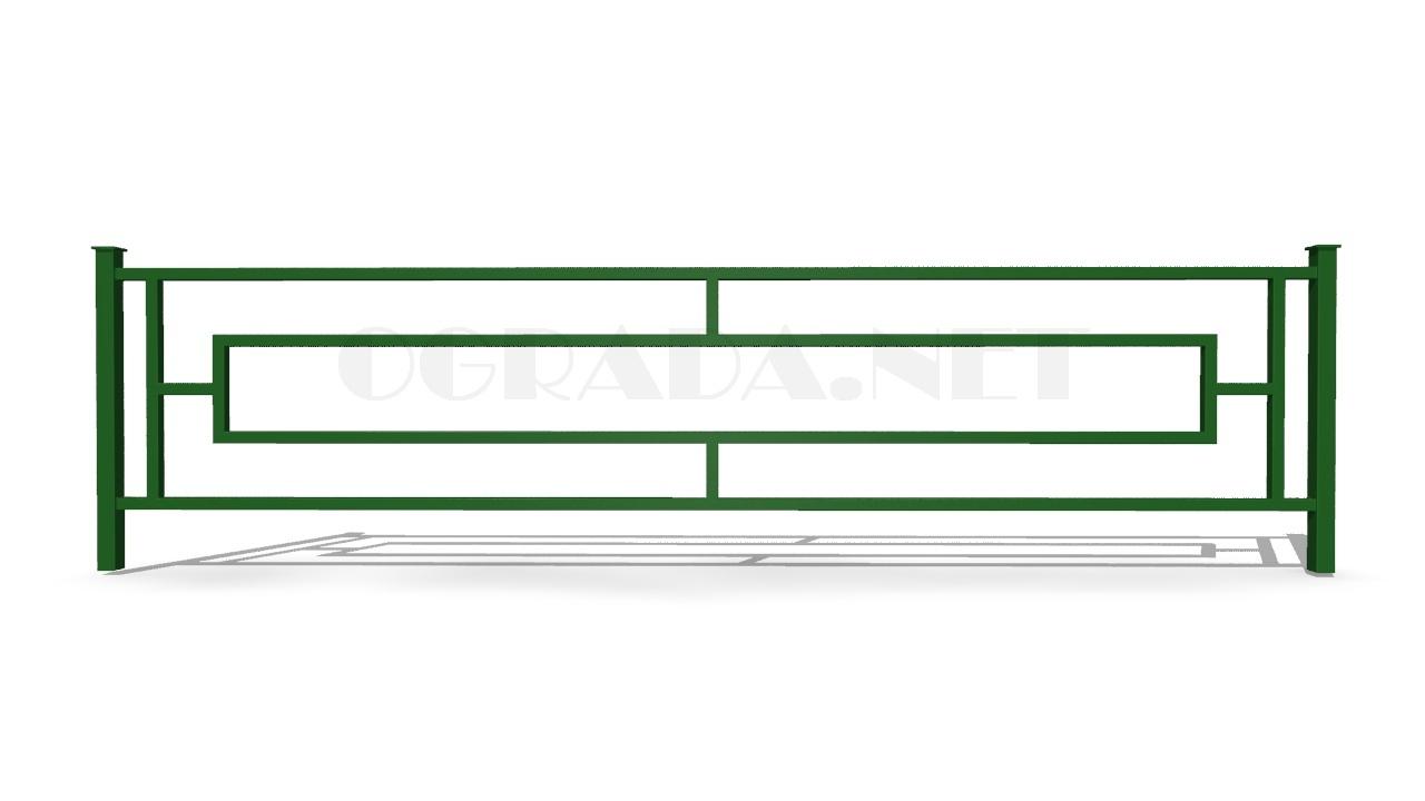 Ограждение газонное ОГ-2 зеленое