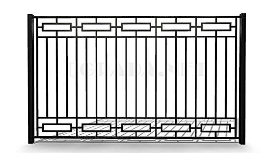 Металлический забор сварной ЗС 1800-4 черный