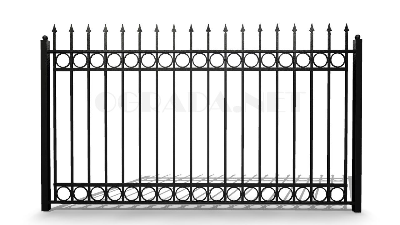 Забор сварной кованый ЗС 1800-6 черный