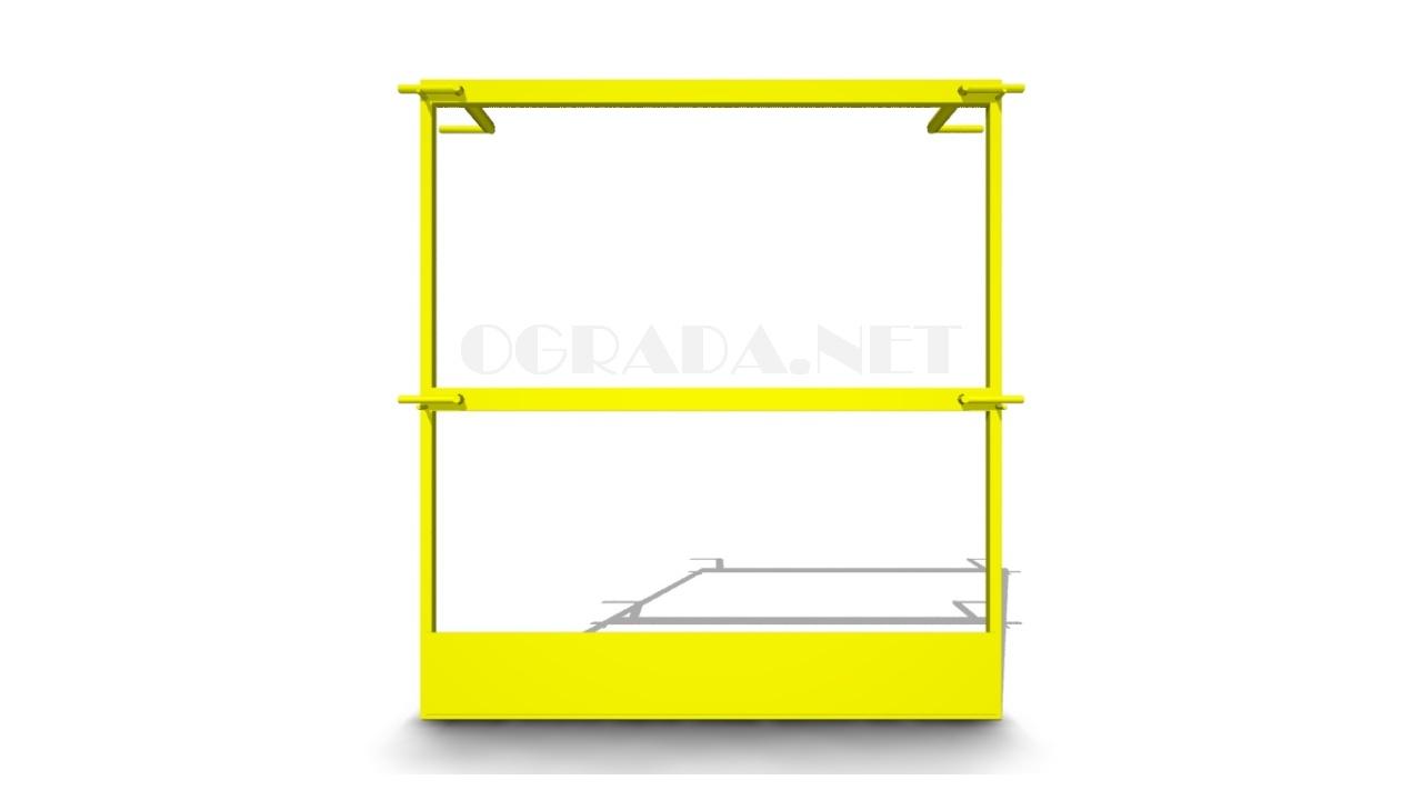 Ограждение входа в шахту лифта ОВШЛ-1 желтое