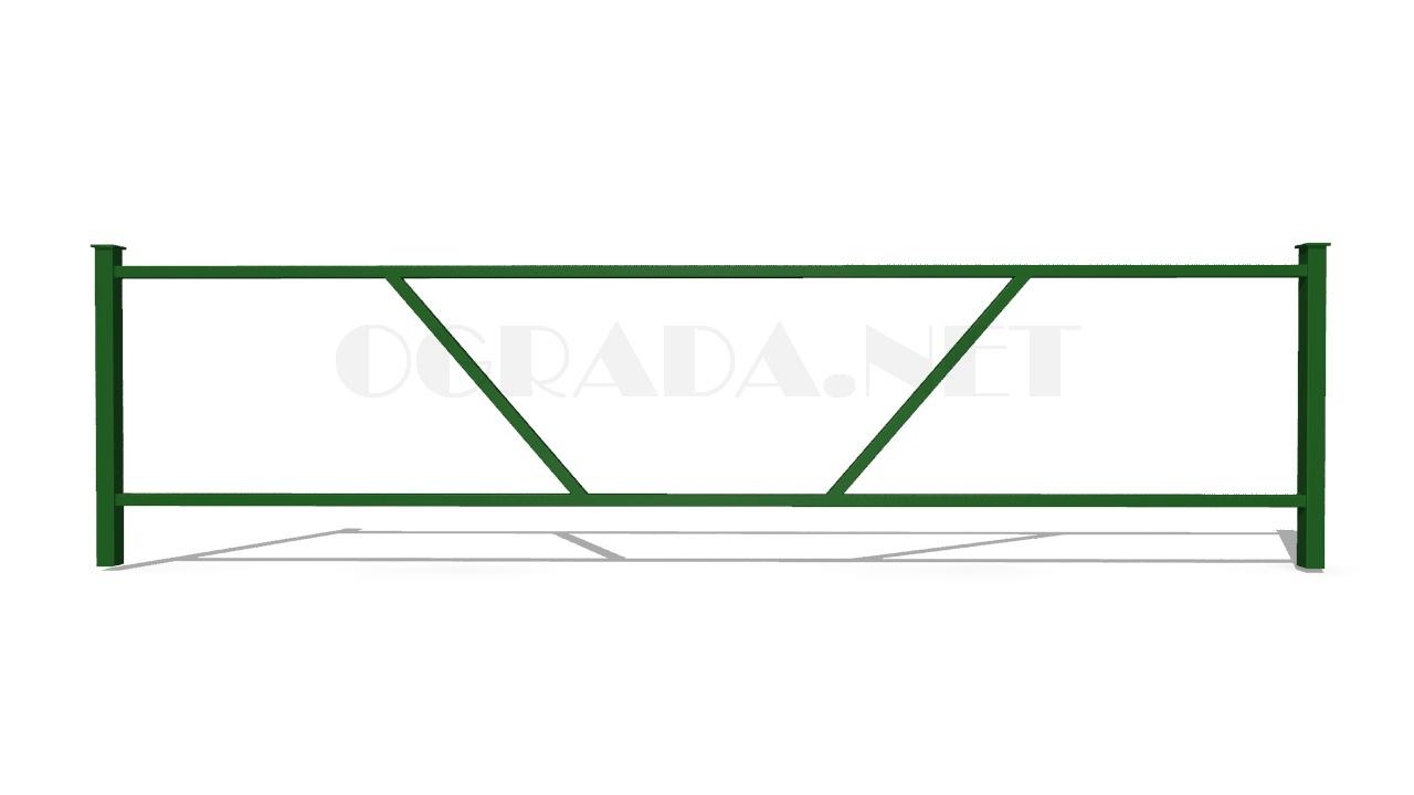 Ограждение газонное ОГ-4 зеленое